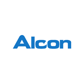 Logotipo de la marca de lentes Alcon