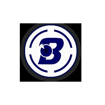 Logotipo de la marca de lentes B