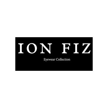 Logotipo de la marca de lentes Ion Fiz